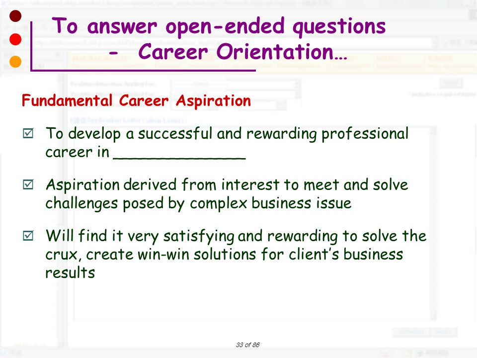 career aspiration banking How to answer what are your short  question allows the interviewer to evaluate your ability to distinguish between the two and to assess your life and career.
