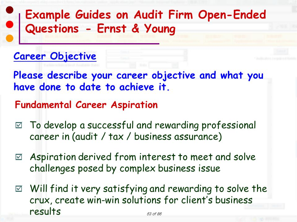 career aspiration accountant one of the most frequently asked motivational questions is what are