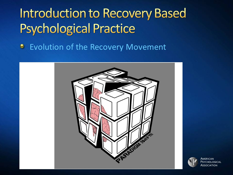 Introduction to Recovery Based Psychological Practice