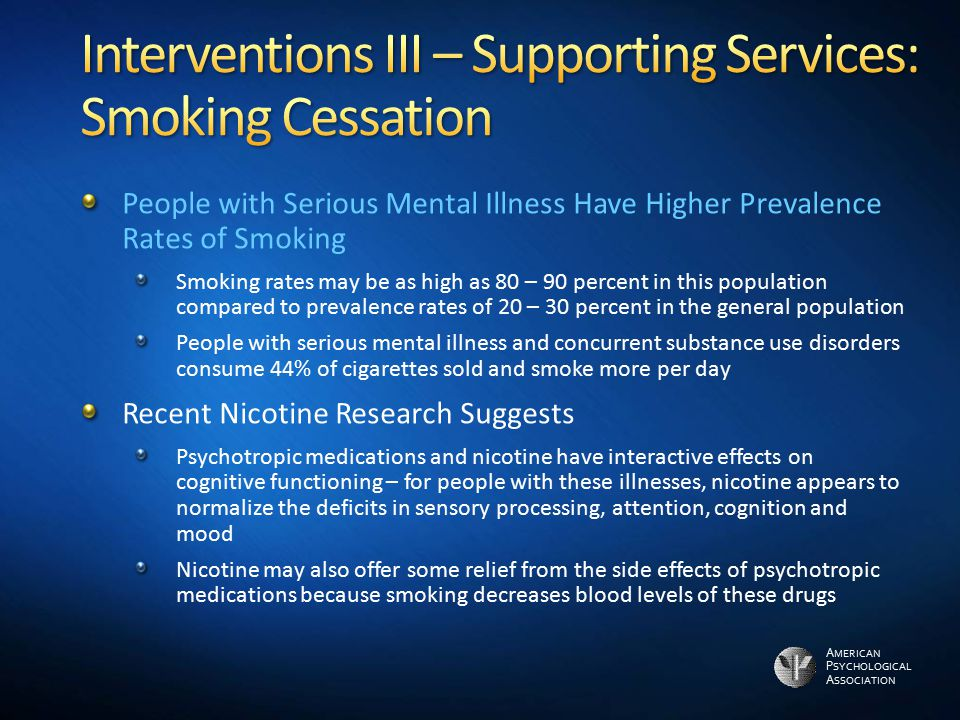 Interventions III – Supporting Services: Smoking Cessation