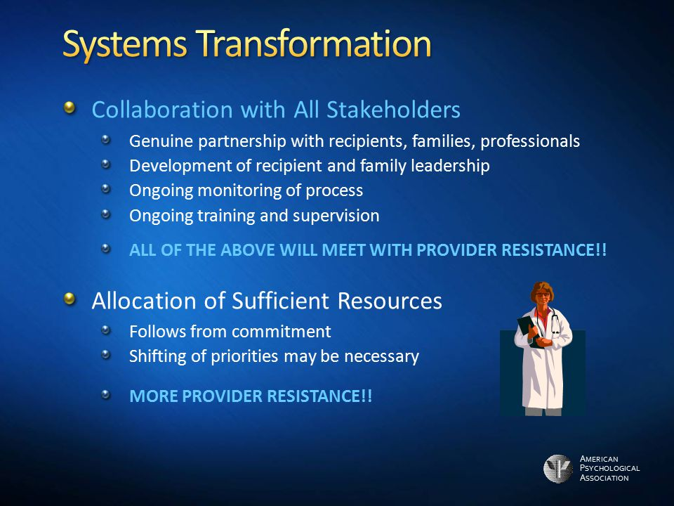 Systems Transformation