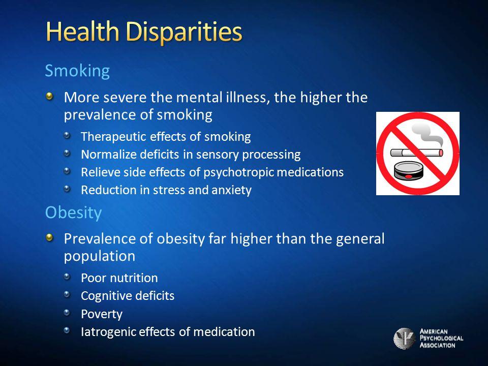 Health Disparities Smoking Obesity