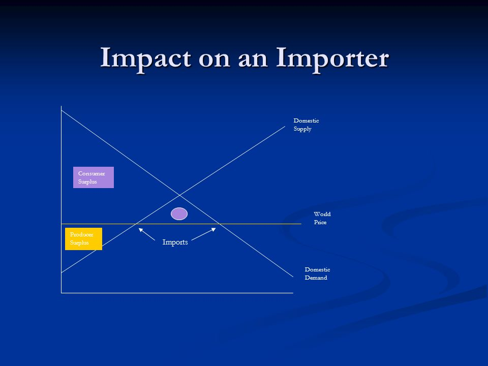 Impact on an Importer Imports Domestic Supply Consumer Surplus