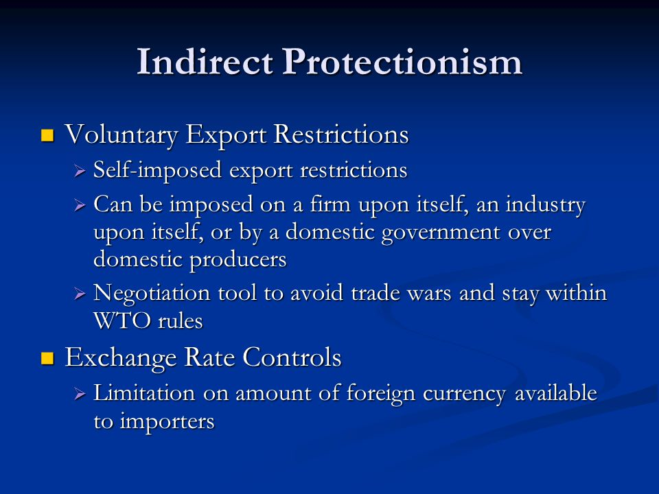 Indirect Protectionism