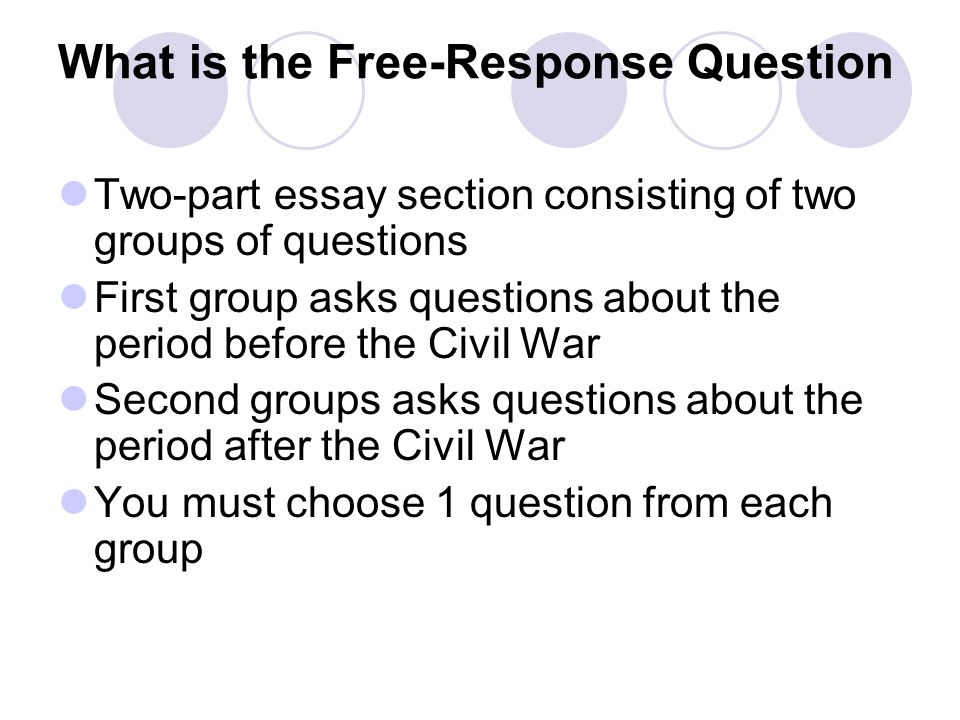 What is the Free-Response Question