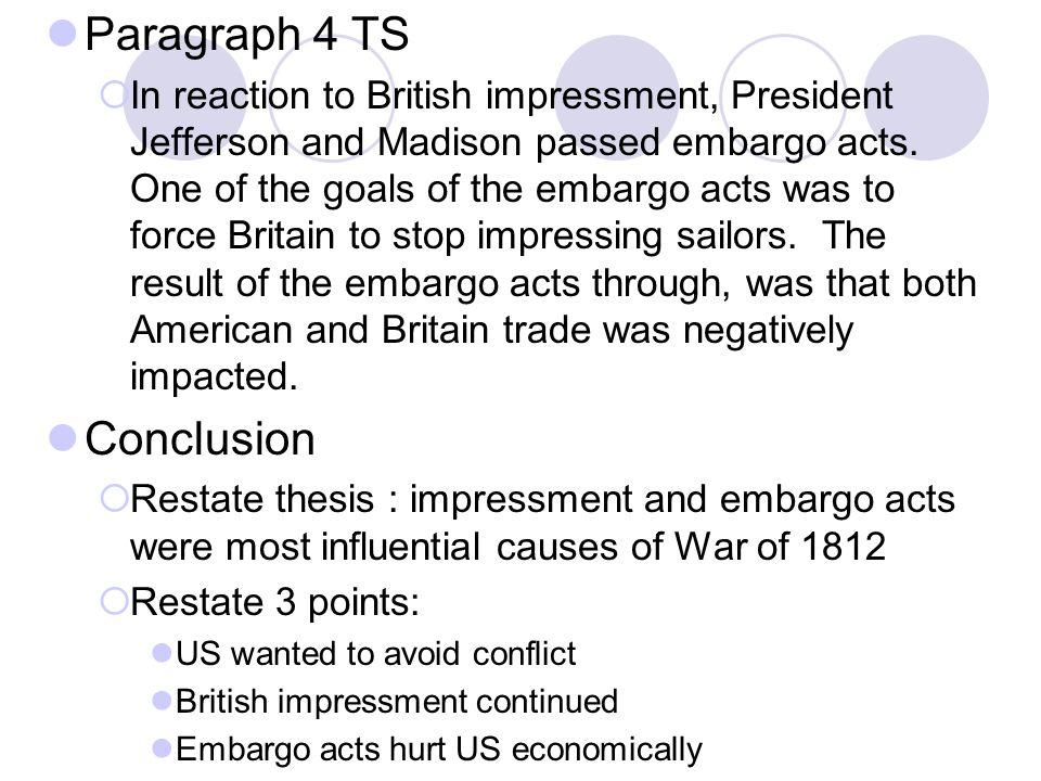 Paragraph 4 TS Conclusion