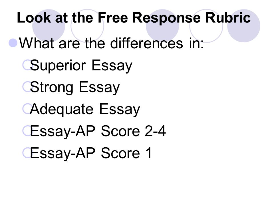 Look at the Free Response Rubric