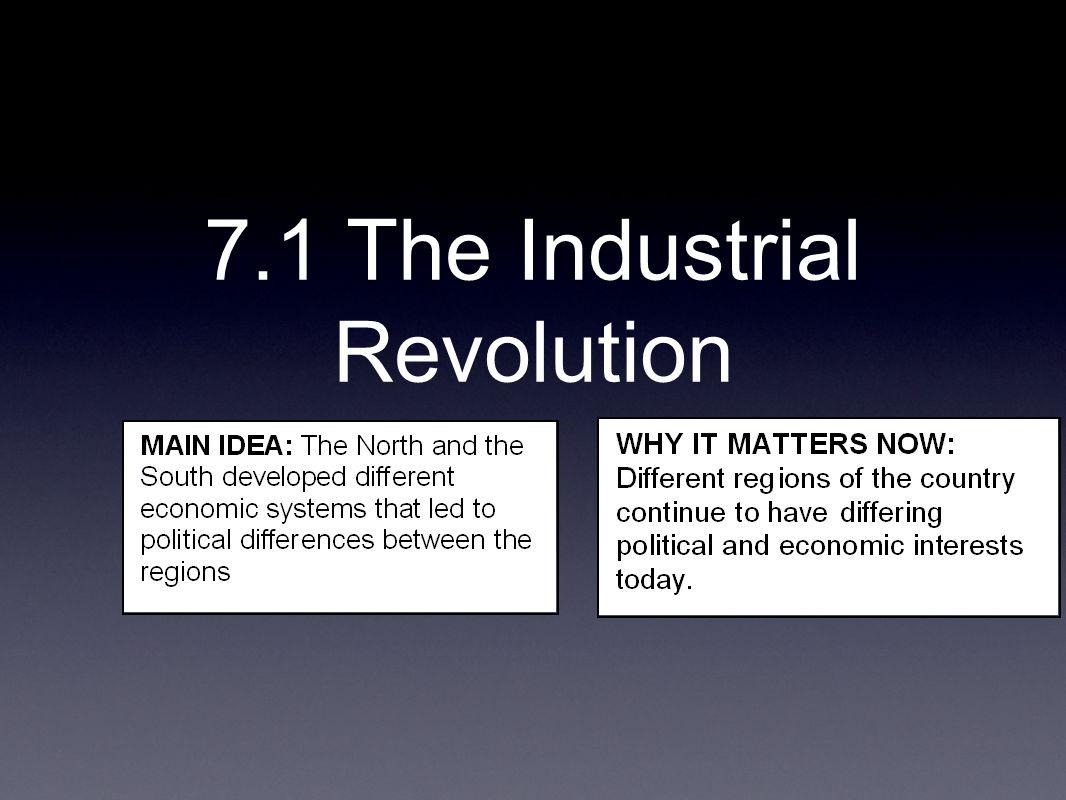 7.1 The Industrial Revolution