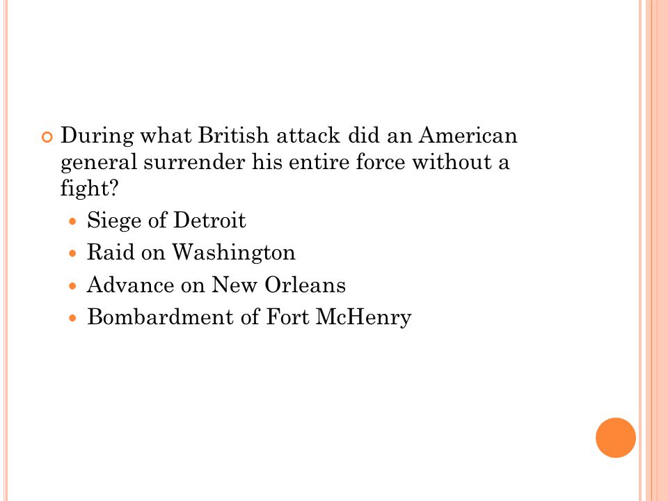 During what British attack did an American general surrender his entire force without a fight