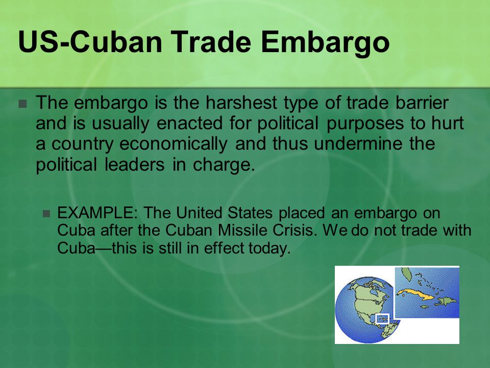 US-Cuban Trade Embargo