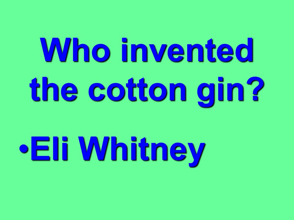 Who invented the cotton gin