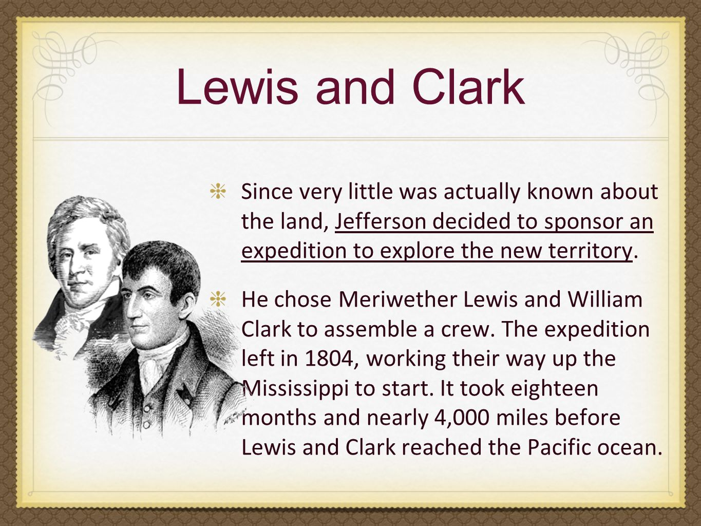 Image result for lewis and clark left for their expedition