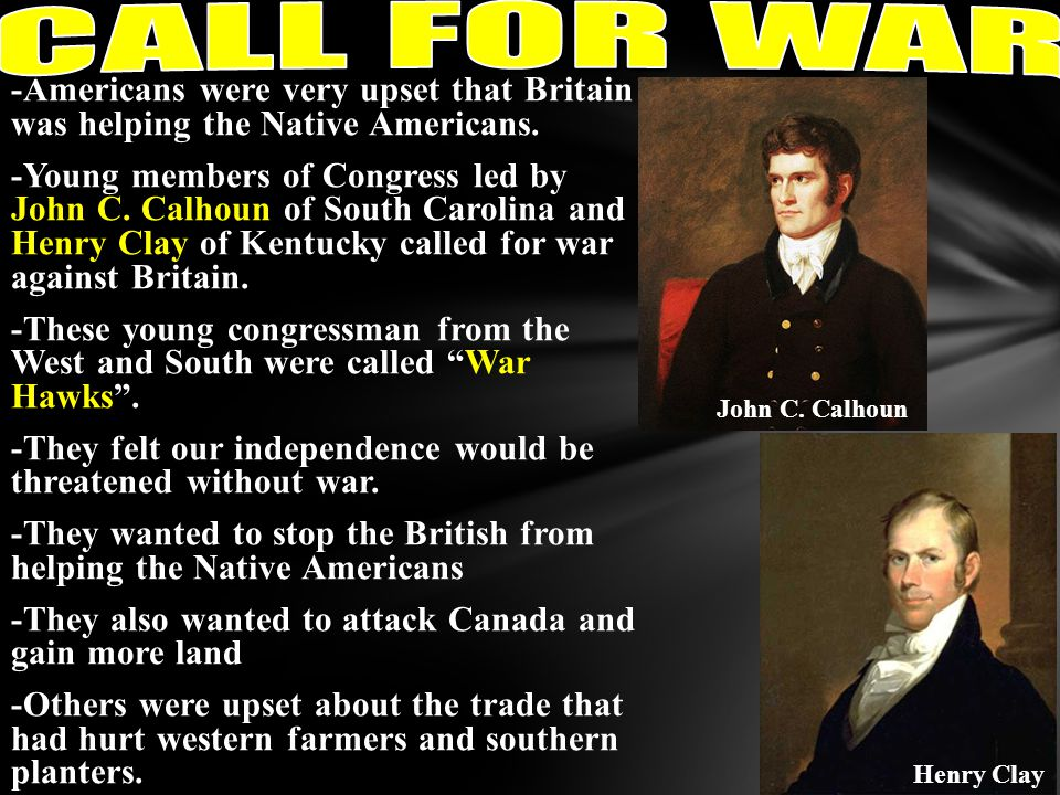 CALL FOR WAR