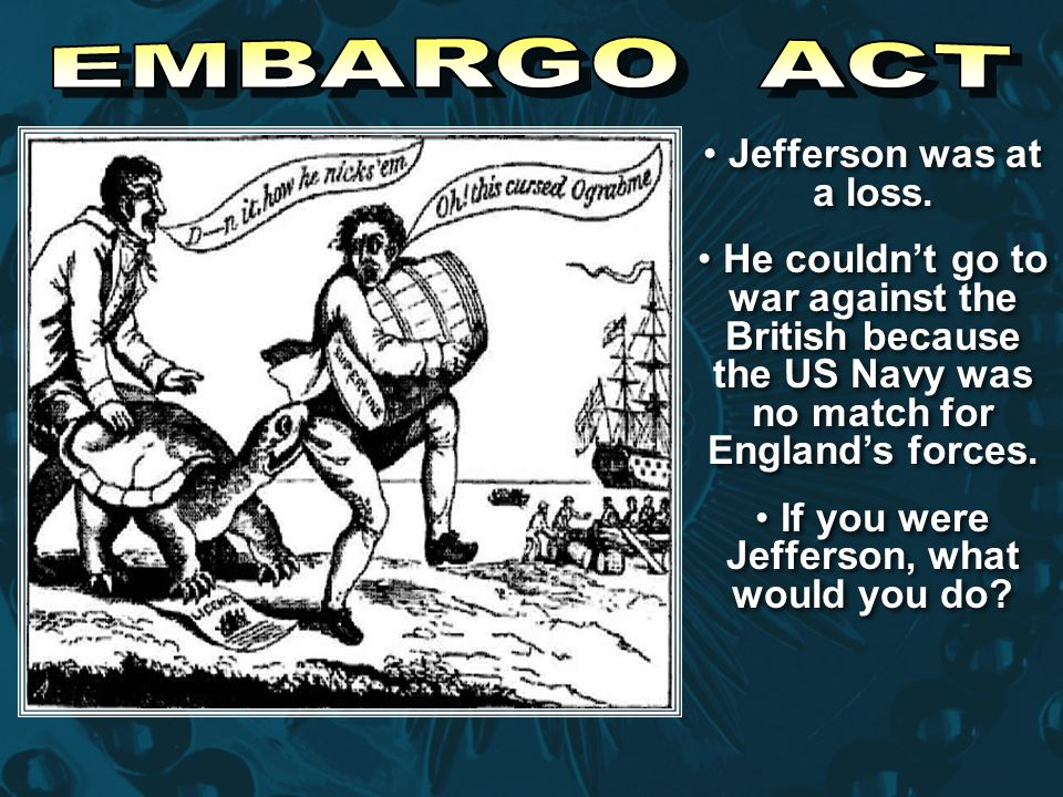 If you were Jefferson, what would you do