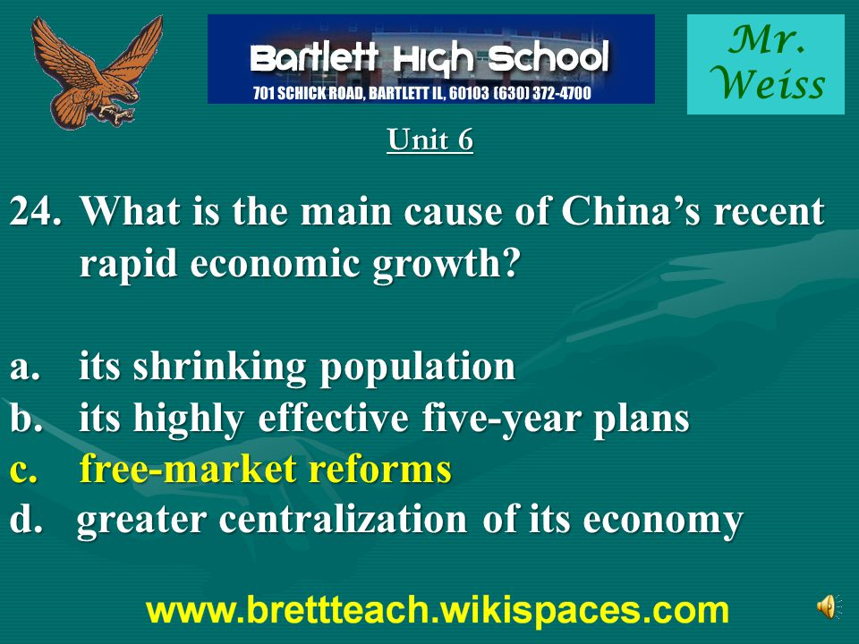 What is the main cause of China's recent rapid economic growth