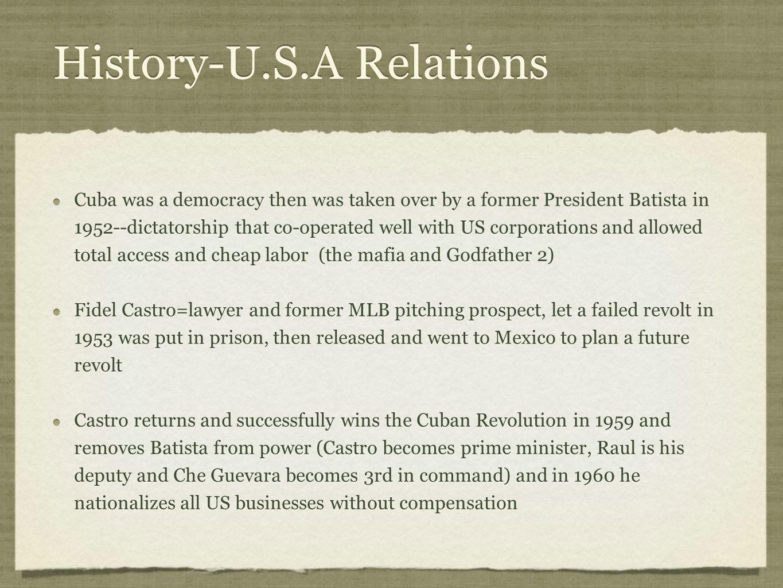 History-U.S.A Relations