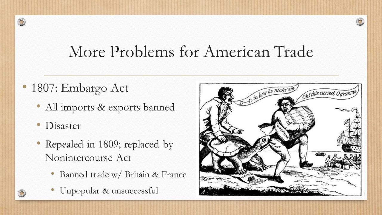 More Problems for American Trade