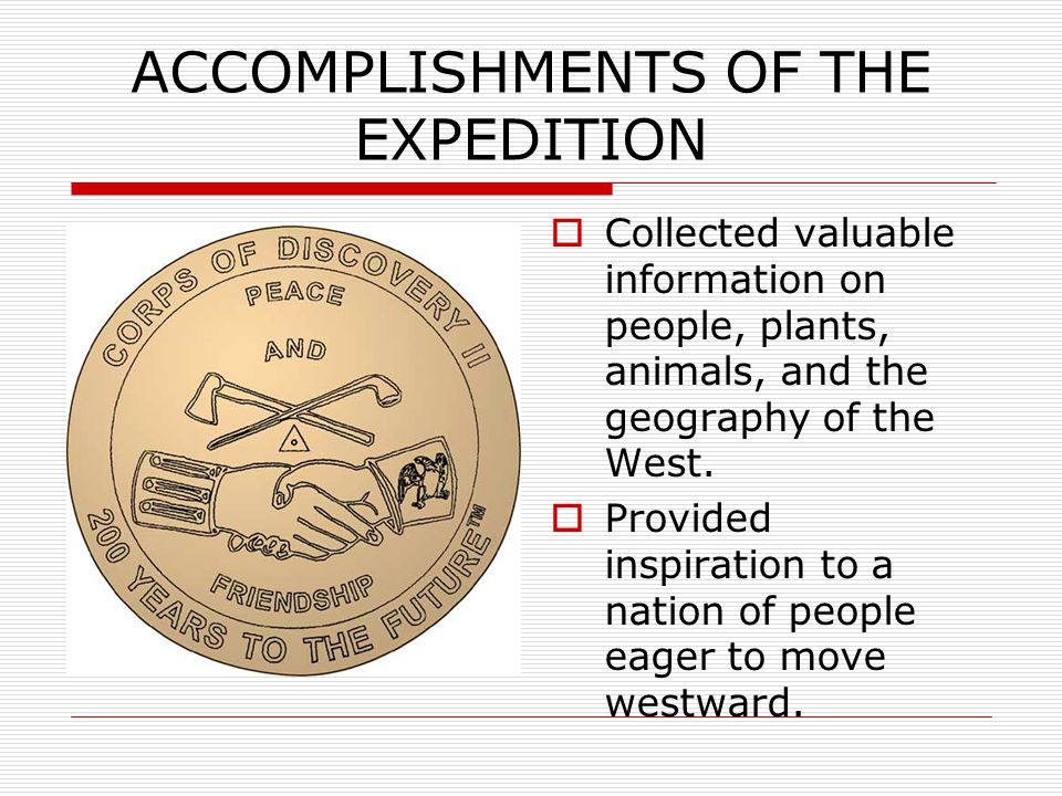 ACCOMPLISHMENTS OF THE EXPEDITION