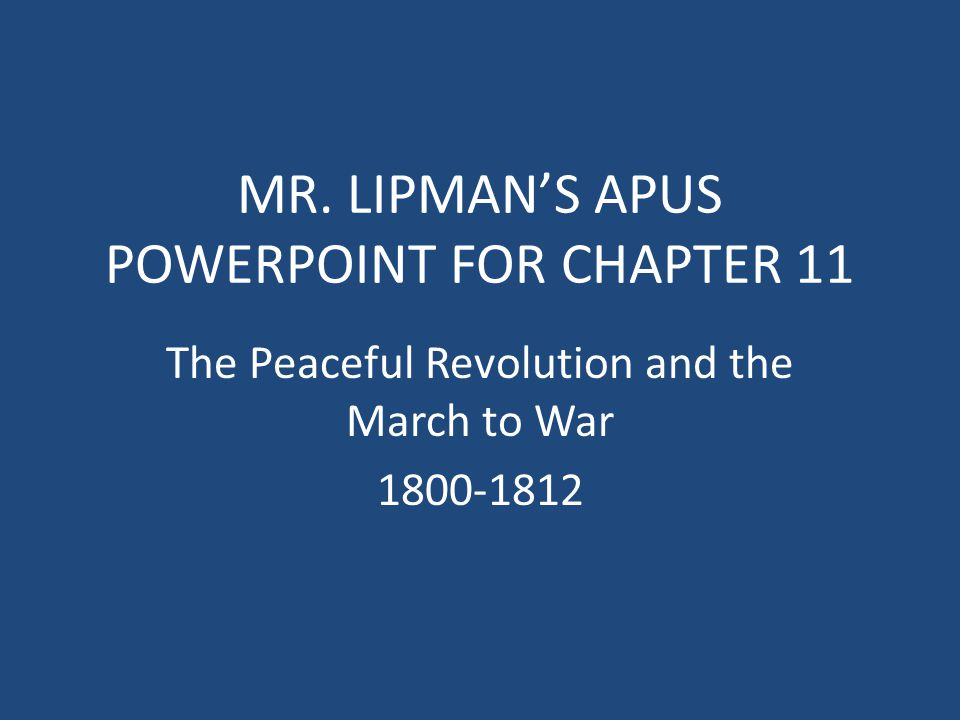 MR. LIPMAN'S APUS POWERPOINT FOR CHAPTER 11