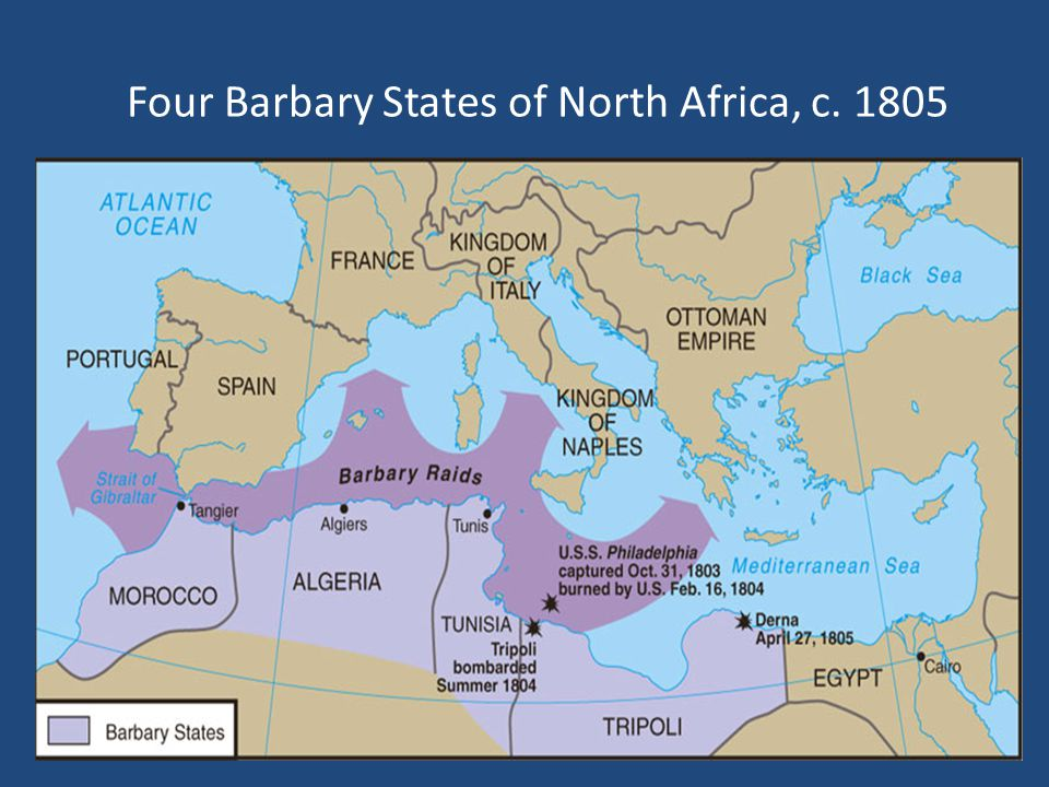 Four Barbary States of North Africa, c. 1805
