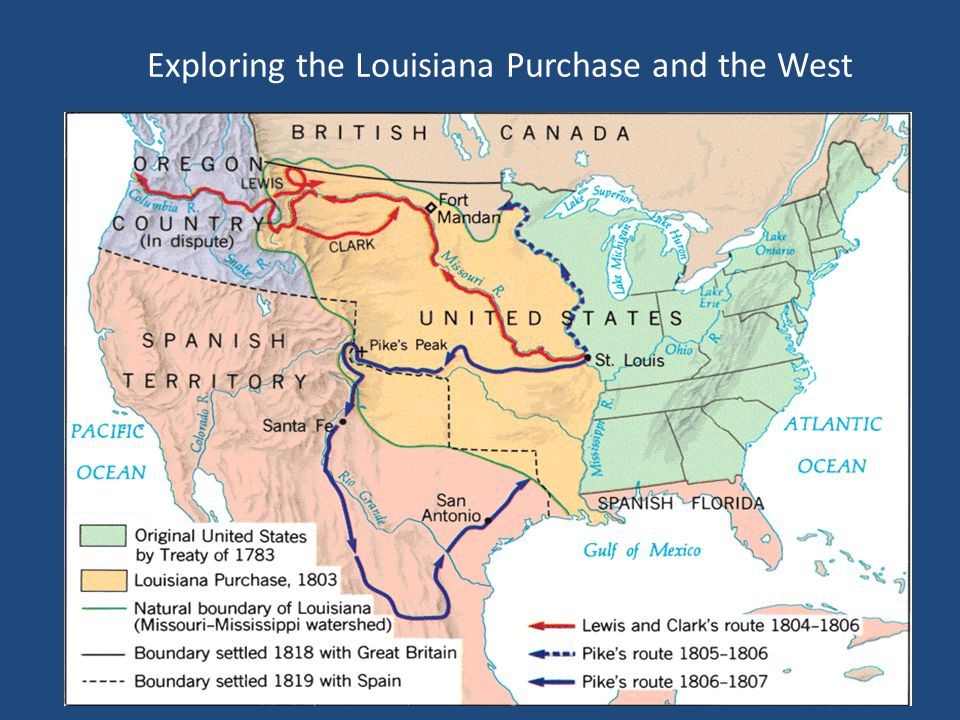 Exploring the Louisiana Purchase and the West