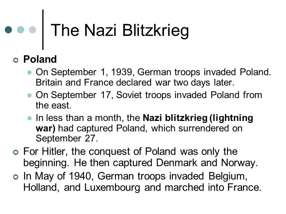 The Nazi Blitzkrieg Poland