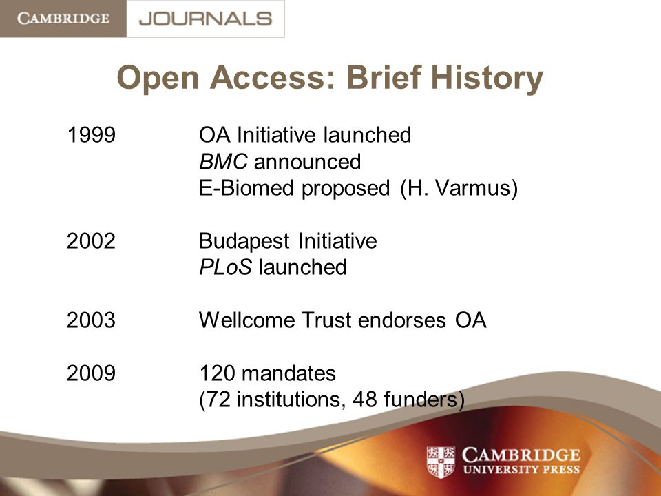 Open Access: Brief History