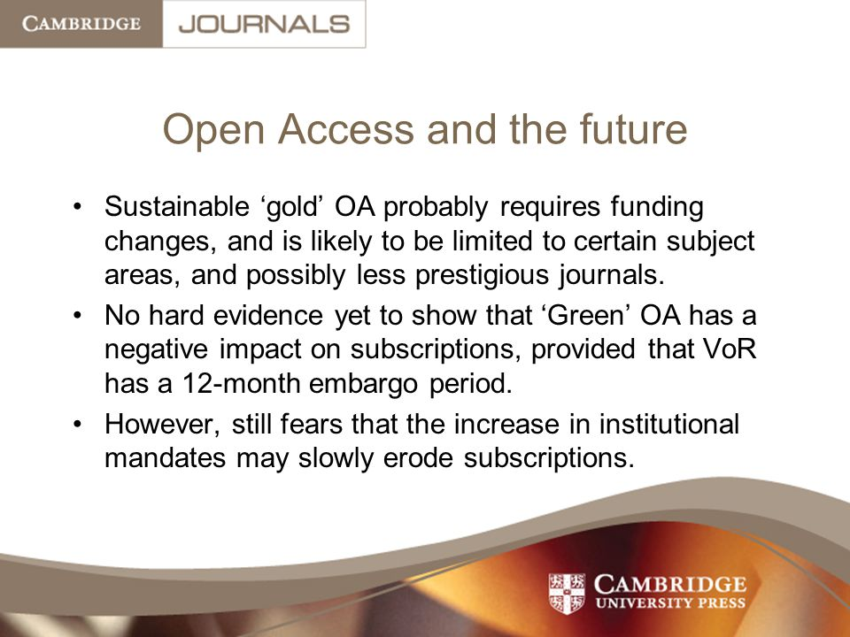 Open Access and the future