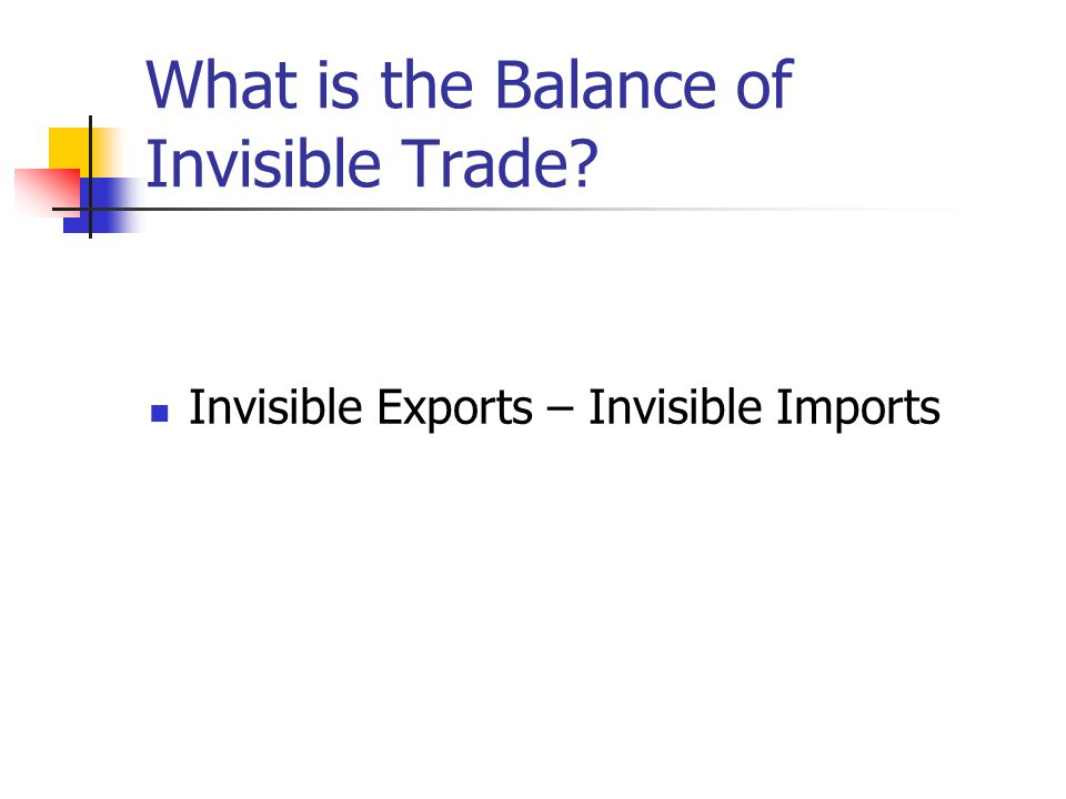 What is the Balance of Invisible Trade