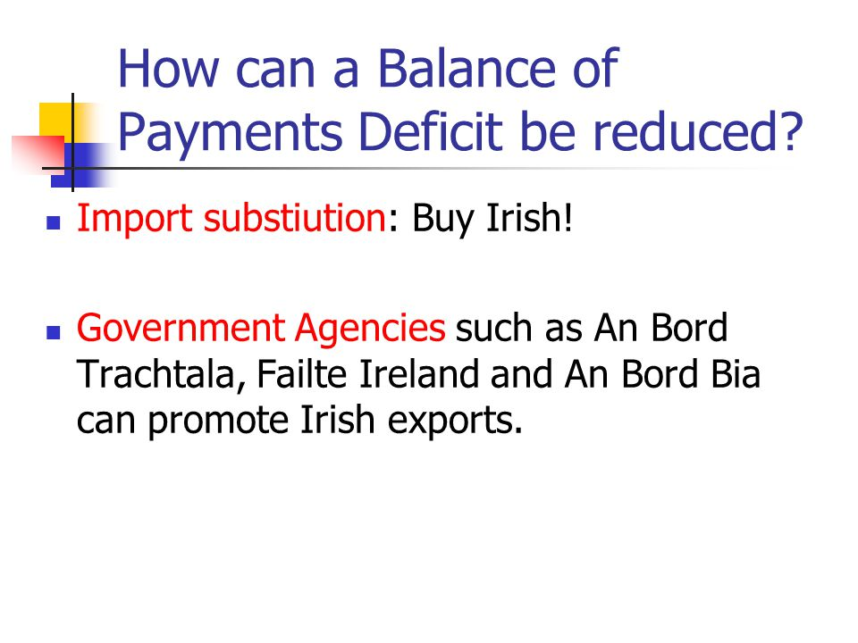 How can a Balance of Payments Deficit be reduced