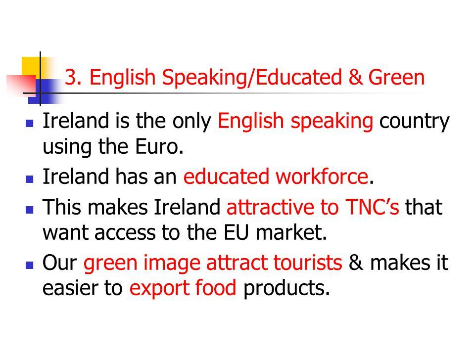 3. English Speaking/Educated & Green
