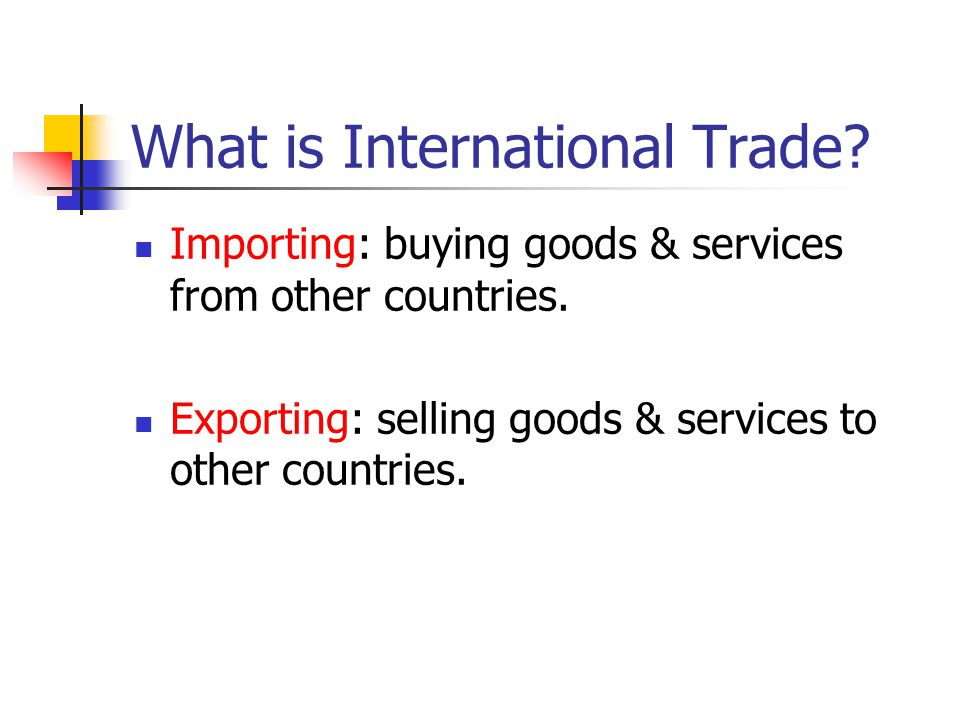 What is International Trade