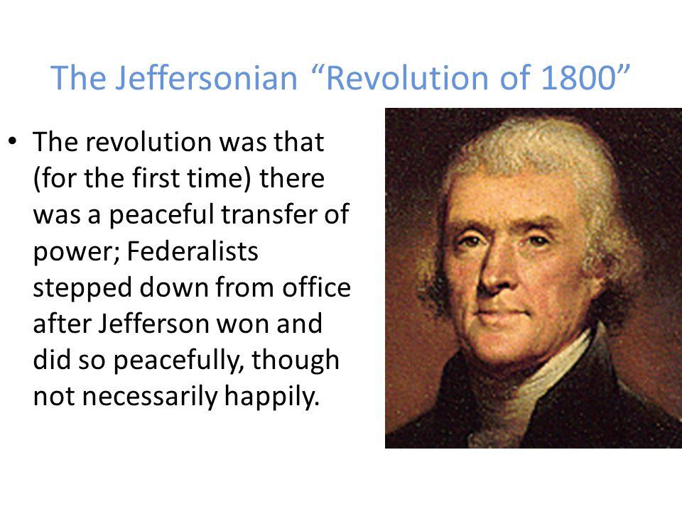 The Jeffersonian Revolution of 1800