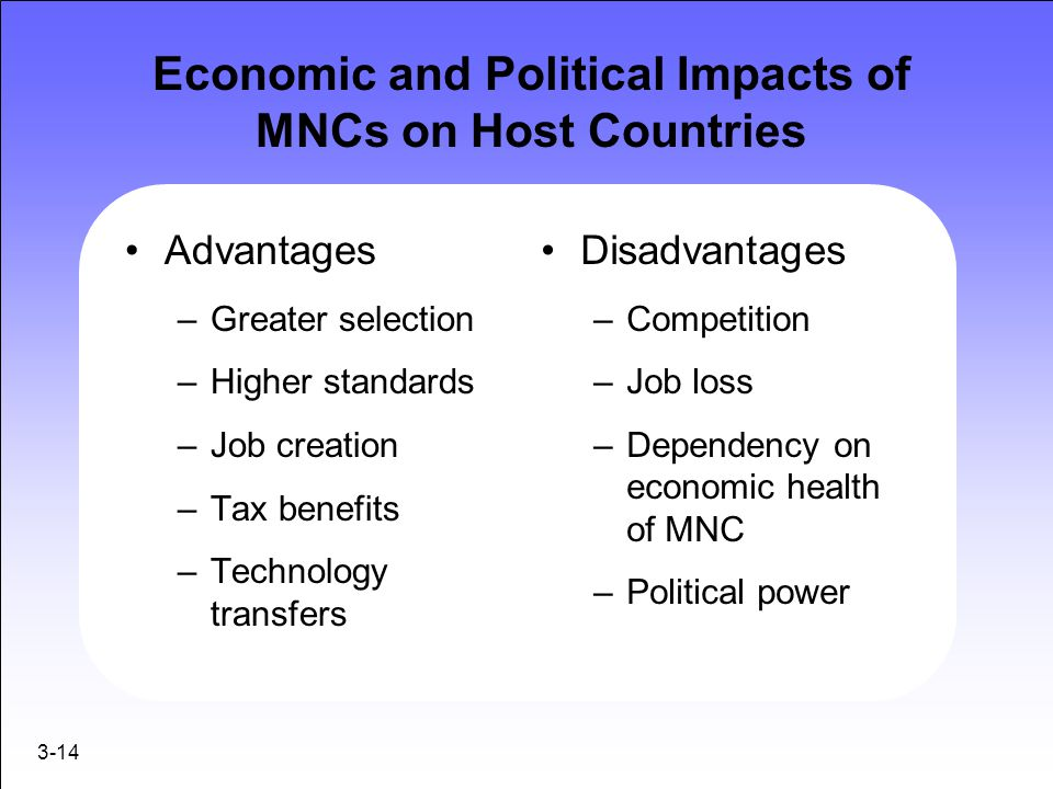 Economic and Political Impacts of MNCs on Host Countries