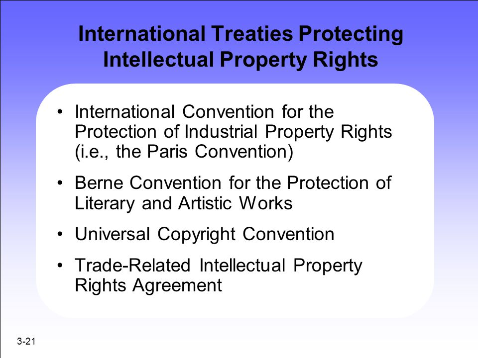 International Treaties Protecting Intellectual Property Rights