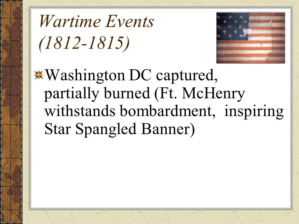 Wartime Events (1812-1815)