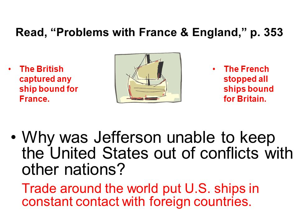 Read, Problems with France & England, p. 353