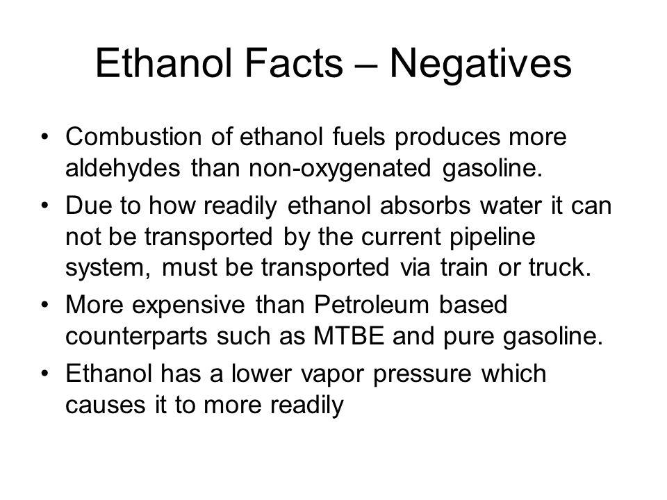 Ethanol Facts – Negatives