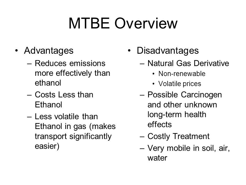 MTBE Overview Advantages Disadvantages