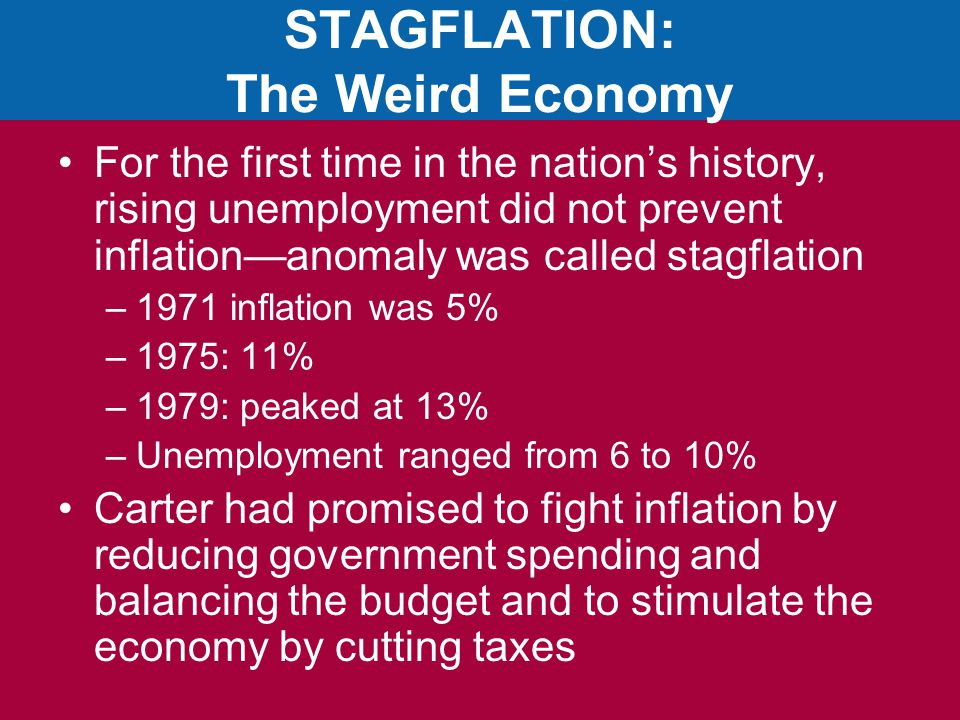 STAGFLATION: The Weird Economy