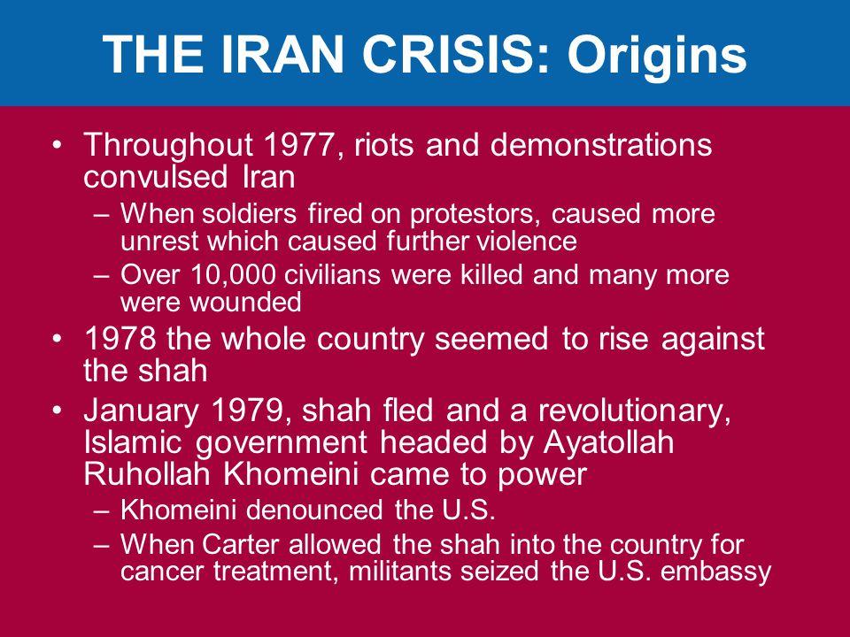 THE IRAN CRISIS: Origins