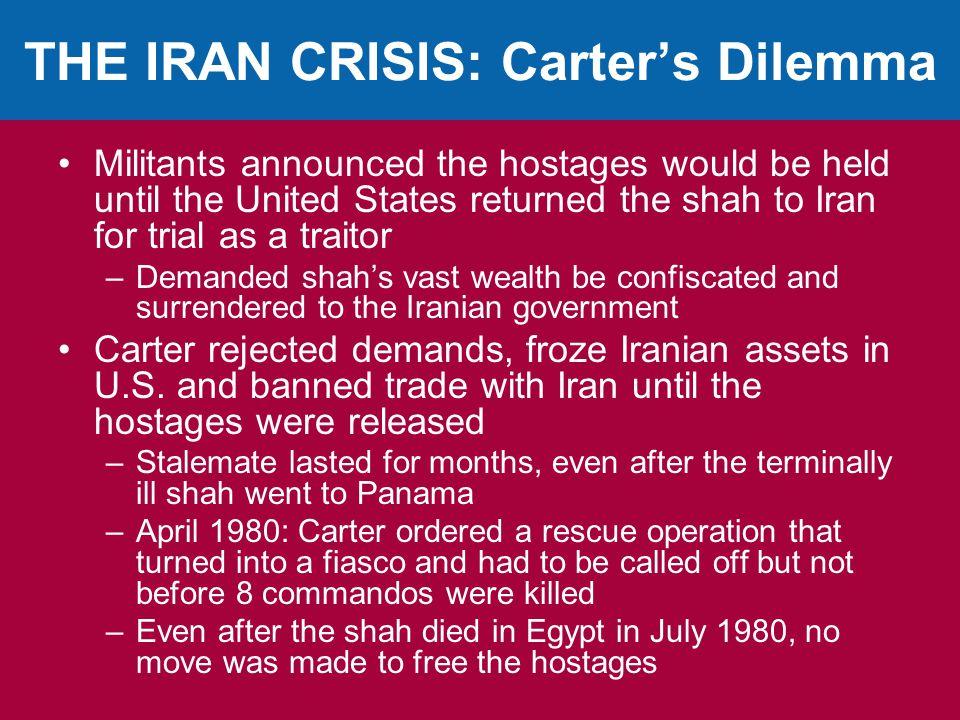 THE IRAN CRISIS: Carter's Dilemma