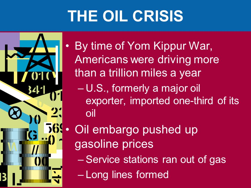 THE OIL CRISIS Oil embargo pushed up gasoline prices