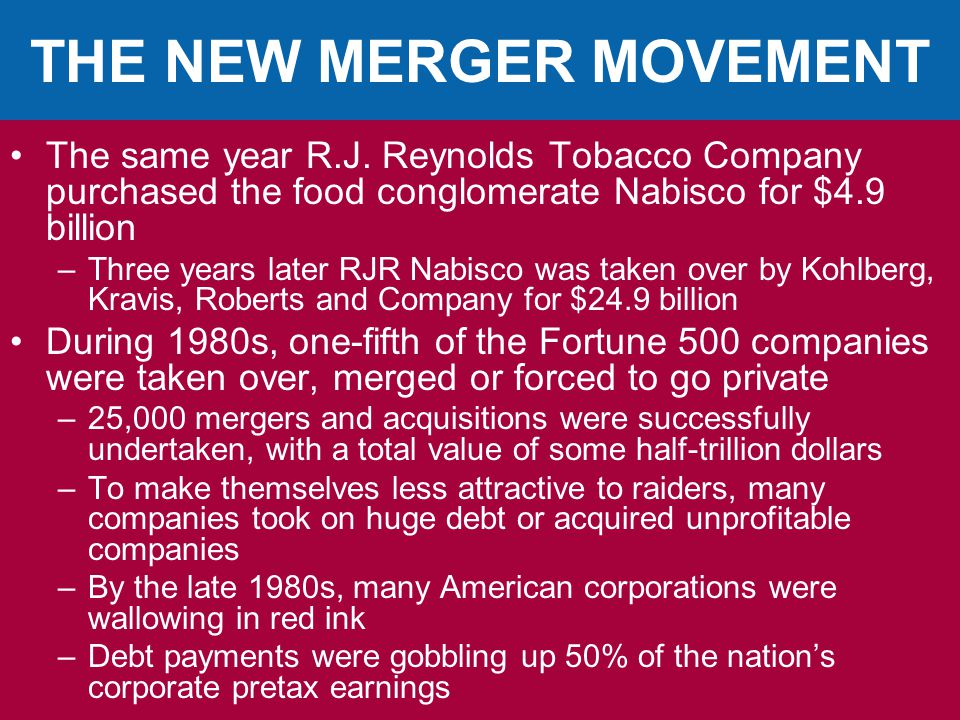 THE NEW MERGER MOVEMENT