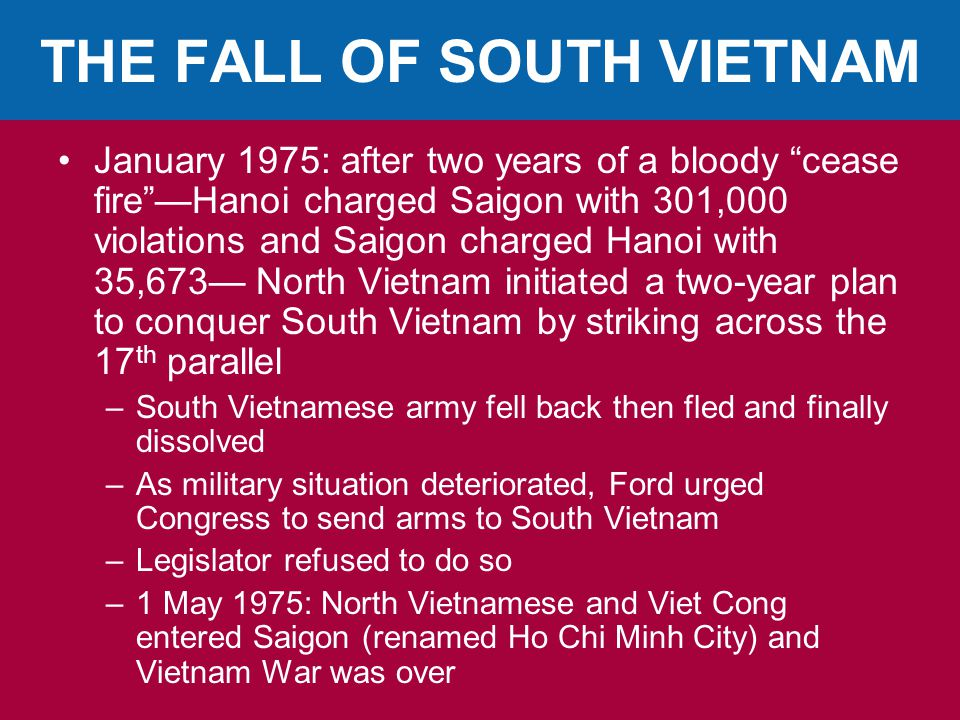 THE FALL OF SOUTH VIETNAM