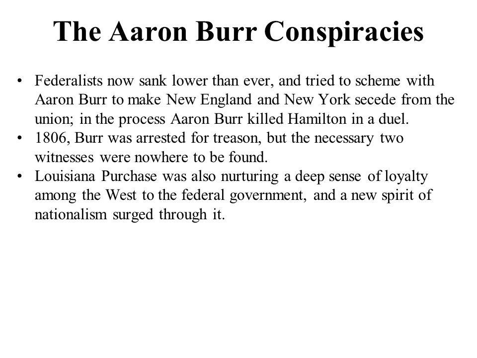 The Aaron Burr Conspiracies