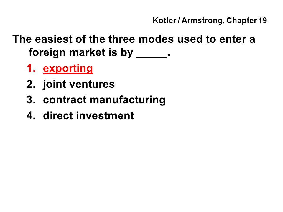 Kotler / Armstrong, Chapter 19