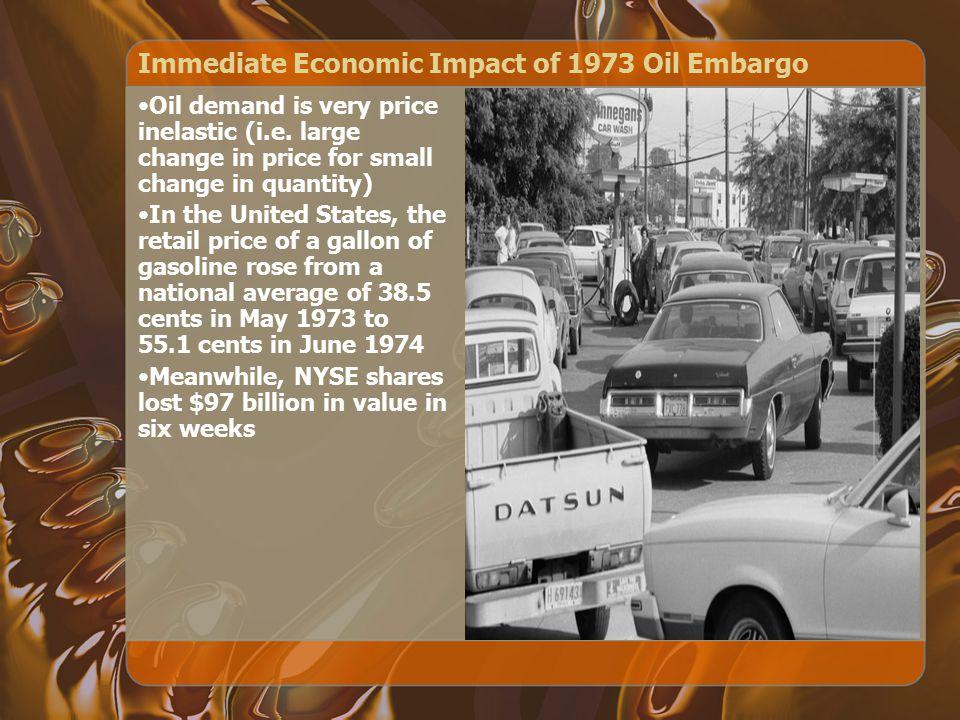 Immediate Economic Impact of 1973 Oil Embargo