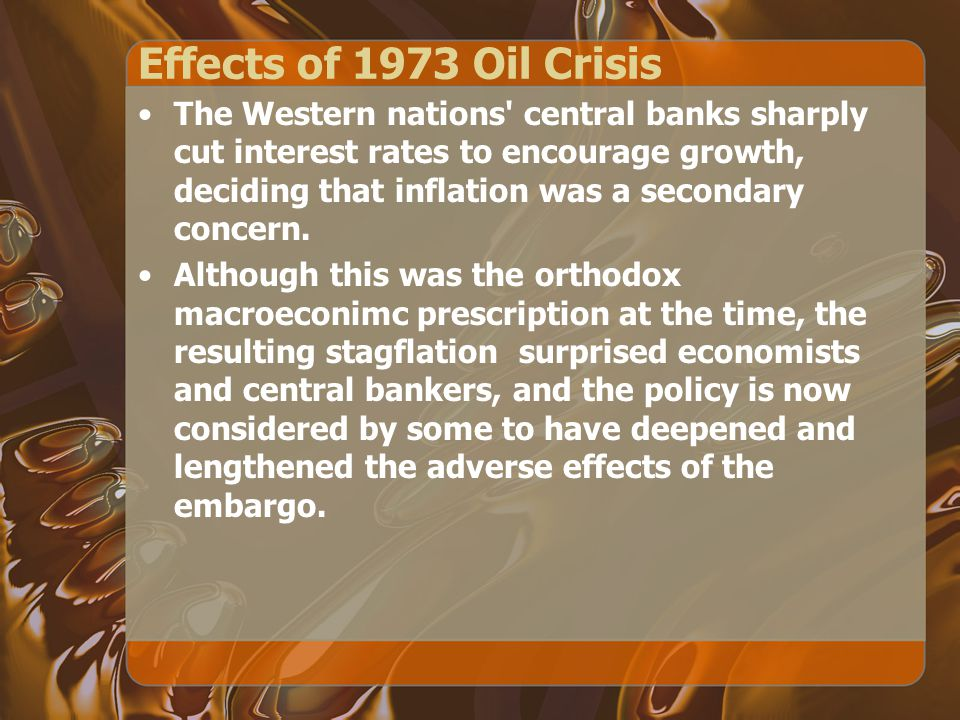 Effects of 1973 Oil Crisis
