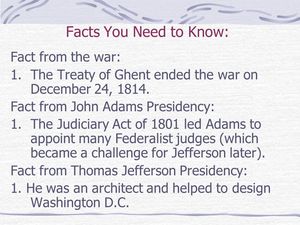 Facts You Need to Know: Fact from the war: